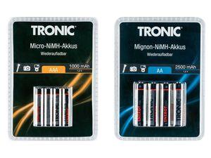 TRONIC® Ni-MH Akku »Ready 2 Use«, wiederaufladbar, 7 Studen Ladezeit