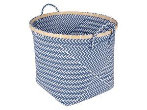 AQUAPUR® Wäschesammler, 50 l Fassungsvermögen, mit 2 Tragegriffen, aus Kunststoffgeflecht
