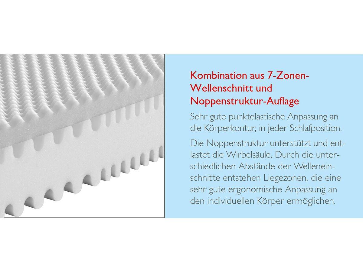 Bild 4 von BADENIA TRENDLINE 7-Zonen XXL-Komfortschaum-Matratze mit Noppenschaum-Auflage und Wendefunktion