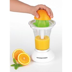 GOURMETmaxx Saftpresse elektrisch 25W weiß/limegreen