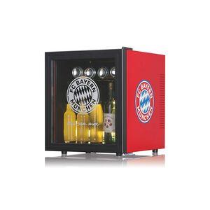 FCB Kühlschrank 50l mit Glastür 12V schwarz/rot mit Logo