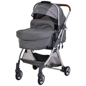 Homcom 2-in-1 Kinderwagen grau