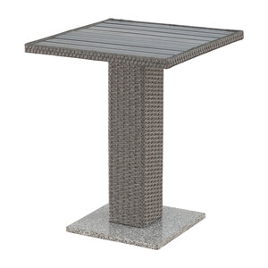 Balkontisch TOLEDO (60x60, grau, Granitfuß)