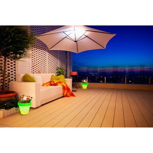 home24 LED-Pflanzenkübel Rokeby