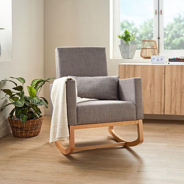 2-in-1 Schaukelstuhl-Sessel inkl. Zierkissen1