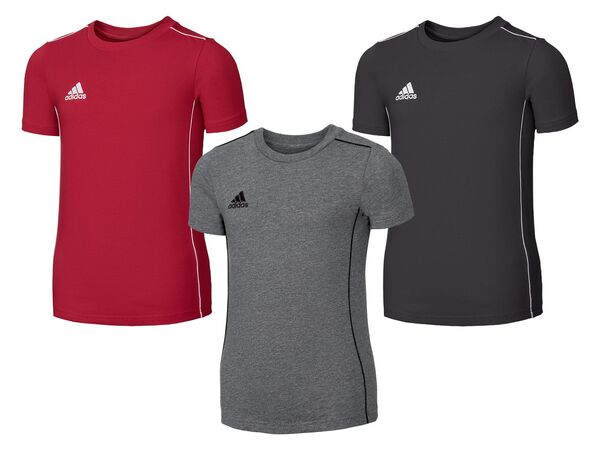 adidas Kinder T-Shirt, Rundhalsausschnitt, aus reiner Baumwolle