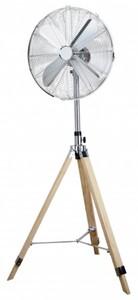 Primaster Standventilator Ø 45 cm Höhe verstellbar 128 - 138 cm, holzoptik