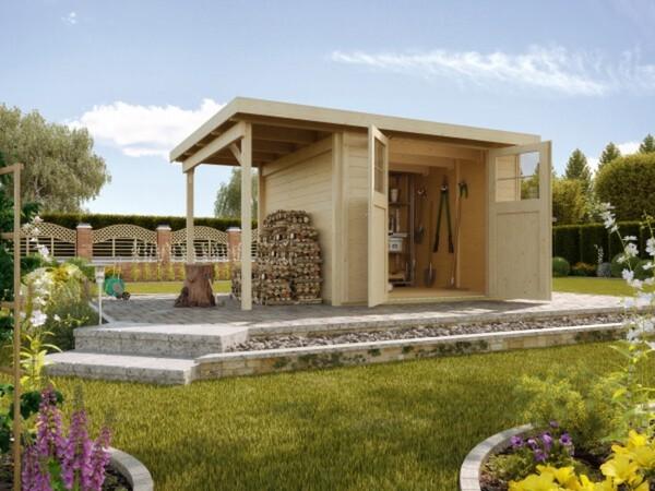 Weka Gartenhaus Mina 369 x 250 cm