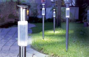 Edelstahl Solar Gartenlampe - 3 Stück