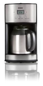 Kaffeeautomat 1,2 L mit Thermokanne, Edelstahl Domo