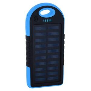 Xlayer Powerbank Plus Solar, 4000 mAh ,  schwarz/blau