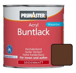 Primaster Acryl Buntlack RAL 8011 ,  375 ml, nussbraun, seidenmatt