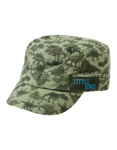 Jungen Army Cap mit Dino-Muster