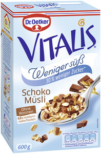Dr.Oetker Vitalis Schoko Müsli weniger süß 600 g