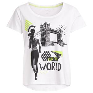 Damen Sport-T-Shirt mit großem Print