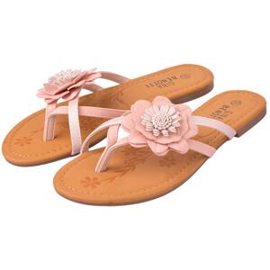Damen Sandalen mit Blüten-Applikation