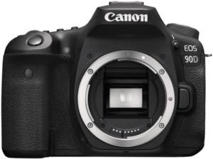 CANON EOS 90D Body Spiegelreflexkamera mit  Objektiv in Schwarz