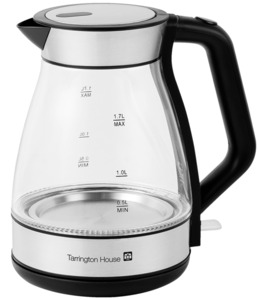 Tarrington House Glas Wasserkocher WK2200G, 1,7 l, 2200 W