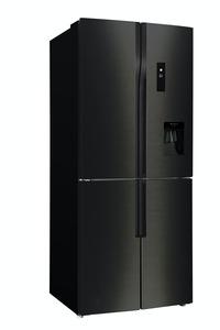 CHIQ Total No Frost Multidoor FCD418NE4D, A+, 418L , 182 x 79 cm, Multi Airflow, Invertertechnologie, Wasserspender, Premium dark inox look