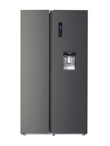 CHIQ Total No Frost Side by Side FSS559NEI42D, A++, 559L,  177 x 91 cm, Multi Airflow, Invertertechnologie, Wasserspender, Premium dark inox look