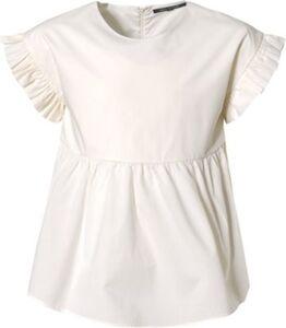 Kinder Kurzarmbluse mit Volants weiß Gr. 170/176 Mädchen Kinder