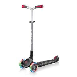 Globber Master Lights Tri-Scooter schwarz/rot