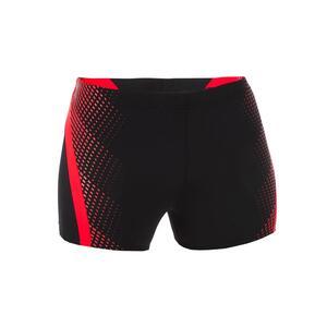 Badehose Boxer Lava Herren schwarz/rot