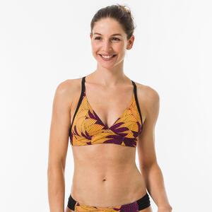Bikini-Oberteil Bustier Bea Hisho Mustard Surfen im Rücken verstellbar Damen
