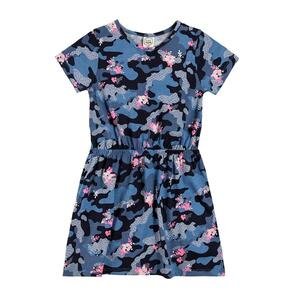 COOL CLUB Kinder Kleid Kurzer Arm für Mädchen 128