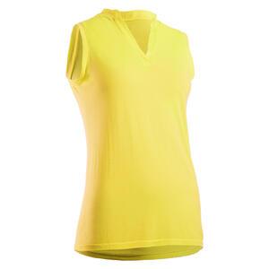 Golf Poloshirt Ultralight Ärmellos Damen gelb