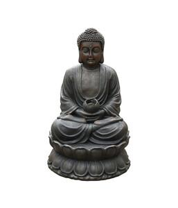 Dehner Polyresin-Gartenbrunnen Buddha, ca. B49,5/H80,5/T49,5 cm