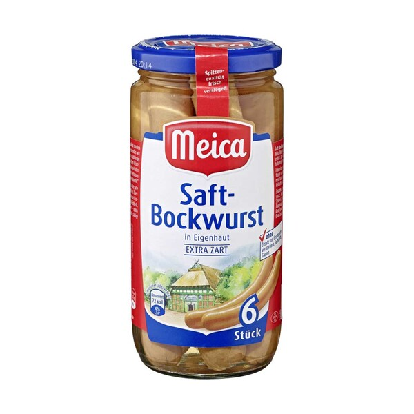 Meica Saft- oder Geflügel-Bockwurst jedes 6 Stück = 180-g-Glas