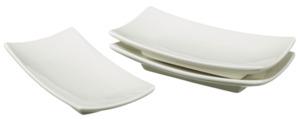 METRO Professional Fingerfood-Schalen eckig, 14,5 x 14,5 cm, 3 Stück, cremeweiß