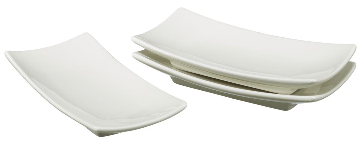 Bild 1 von METRO Professional Fingerfood-Schalen eckig, 14,5 x 14,5 cm, 3 Stück, cremeweiß