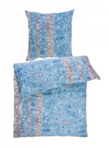 Home Ideas Living Renforcé Bettwäsche Garnitur, 135x200, blau-grau