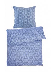 Home Ideas Living Renforcé Bettwäsche Garnitur, 135x200, blau
