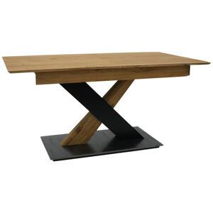 Celina Home Esstisch eiche massiv rechteckig schwarz, eichefarben  , Classic 2020 , Holz , Eiche,Buche , massiv,massiv , 90x76x160(240) cm , geölt, lackiert,lackiert,Echtholz,Echtholz , ausziehbar,