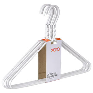 Xora Kleiderbügelset metall weiß  , Toronto , 40.5x27 cm , glatt , 005958001302