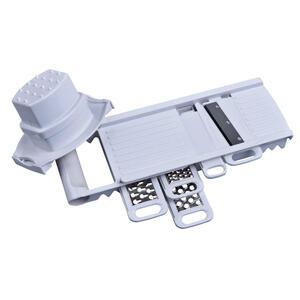 Alpina Multifunktionsreibe , 95450 , Weiß , Metall, Kunststoff , 31.5x10.9x4.2 cm , Fingerschutz, Restehalter , 006287113401
