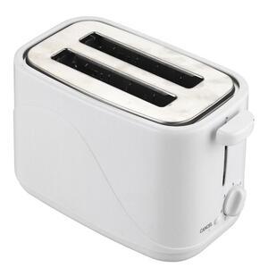 XXXLutz Toaster  , 613-723031 , Weiß , Metall, Kunststoff , 44x27x38 cm , Krümelschublade, Brötchenaufsatz , 004604040602