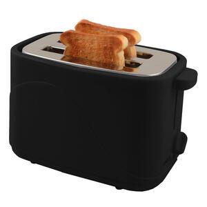 XXXLutz Toaster  , 613-723032 , Schwarz , Metall, Kunststoff , 44x27x38 cm , Krümelschublade, Brötchenaufsatz , 004604040601
