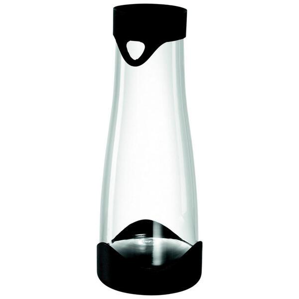 Leonardo WASSERKARAFFE 1 L  , 032954 Primo , Klar, Schwarz , Glas , 29 cm , Deckel, Kühlelement , 0038131782