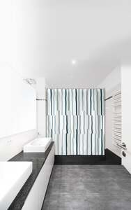 IDEENWELT Textiler Duschvorhang, Streifen