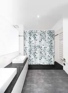 IDEENWELT Textiler Duschvorhang, Steine