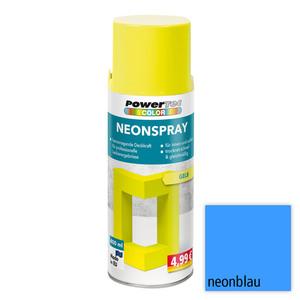 Powertec Color Neonspray - Neonblau 4-er Set