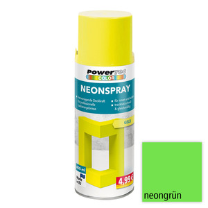 Powertec Color Neonspray - Neongrün 4-er Set