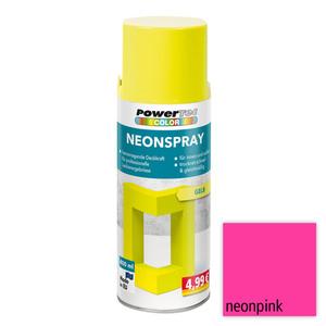 Powertec Color Neonspray - Neonpink 4-er Set
