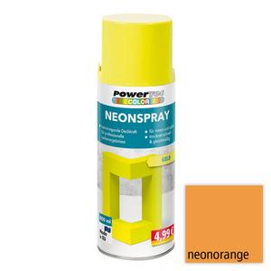Powertec Color Neonspray - Neonorange 4-er Set