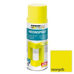 Powertec Color Neonspray - Neongelb 4-er Set