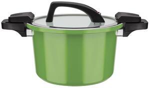 GSW Energiespartopf Ceramica green mit Glasdeckel 24cm